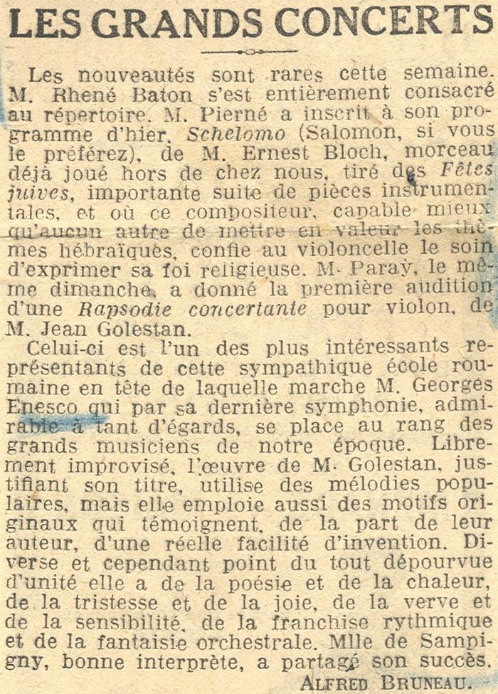 Simfonia  a III-a de George Enescu - primele audiţii