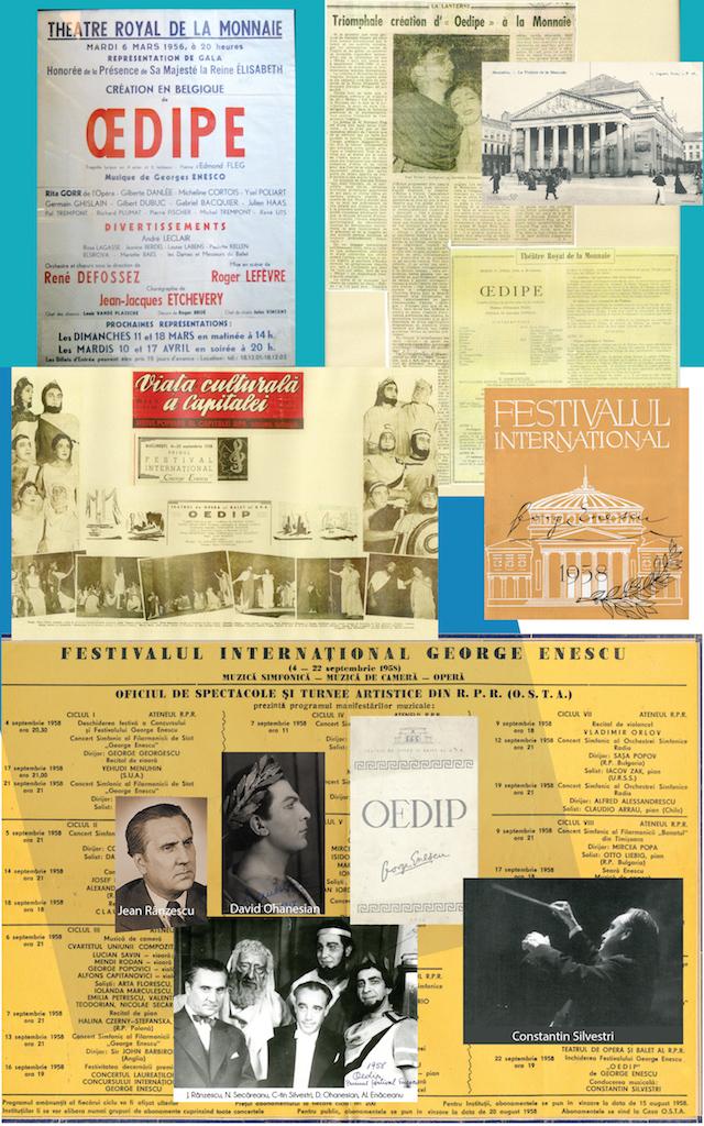 01 – Opera Oedipe – premiera belgiană (1956) și cea românească (1958)