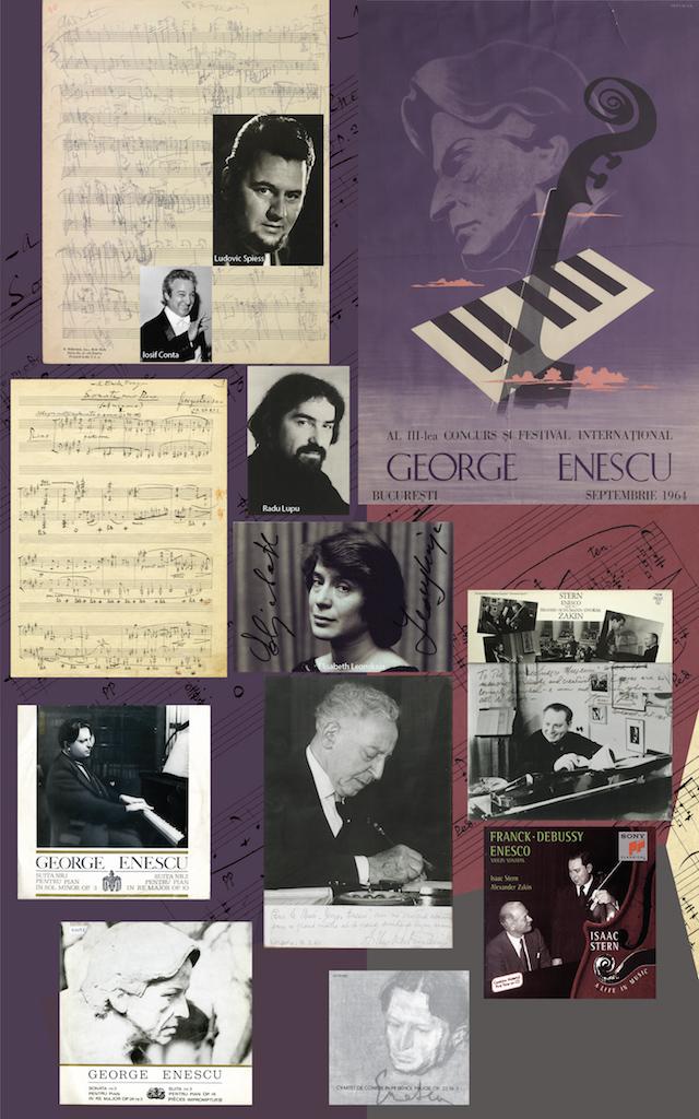 """1956-1960 04 – Mari interpreți și creații enesciene: Vox Maris, Sonata I pentru pian în fa diez minor, Sonata a III-a pentru pian și vioară """"în caracter popular românesc"""". Apariții discografice."""