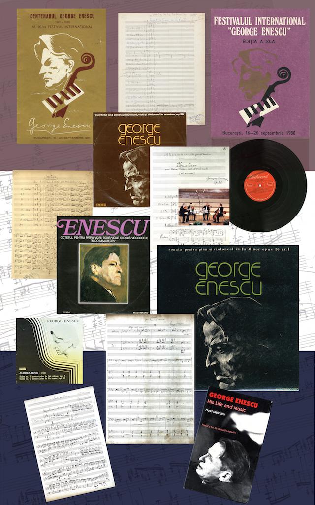 """07 – Creații enesciene și Festivalul Internațional """"George Enescu""""; înregistrări ale unor lucrări camerale, publicații internaționale"""