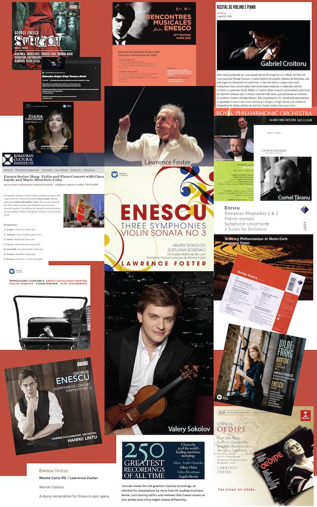17 – George Enescu în repertoriul și discografia artiștilor