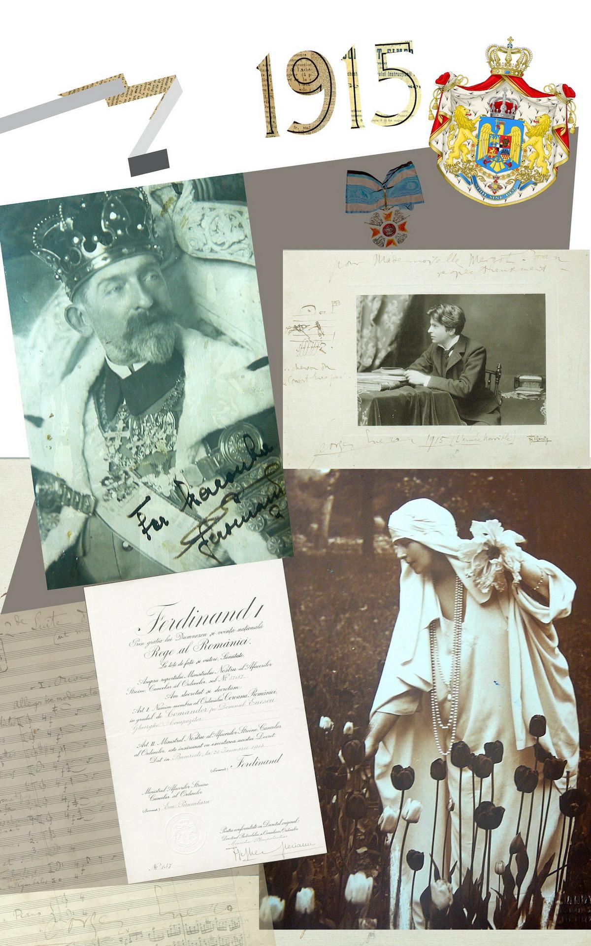3. George Enescu,  muzician decorat de Regele Ferdinand I