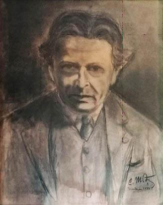 Fig. 3 – Portret în cărbune semnat C. Motaș, 1944