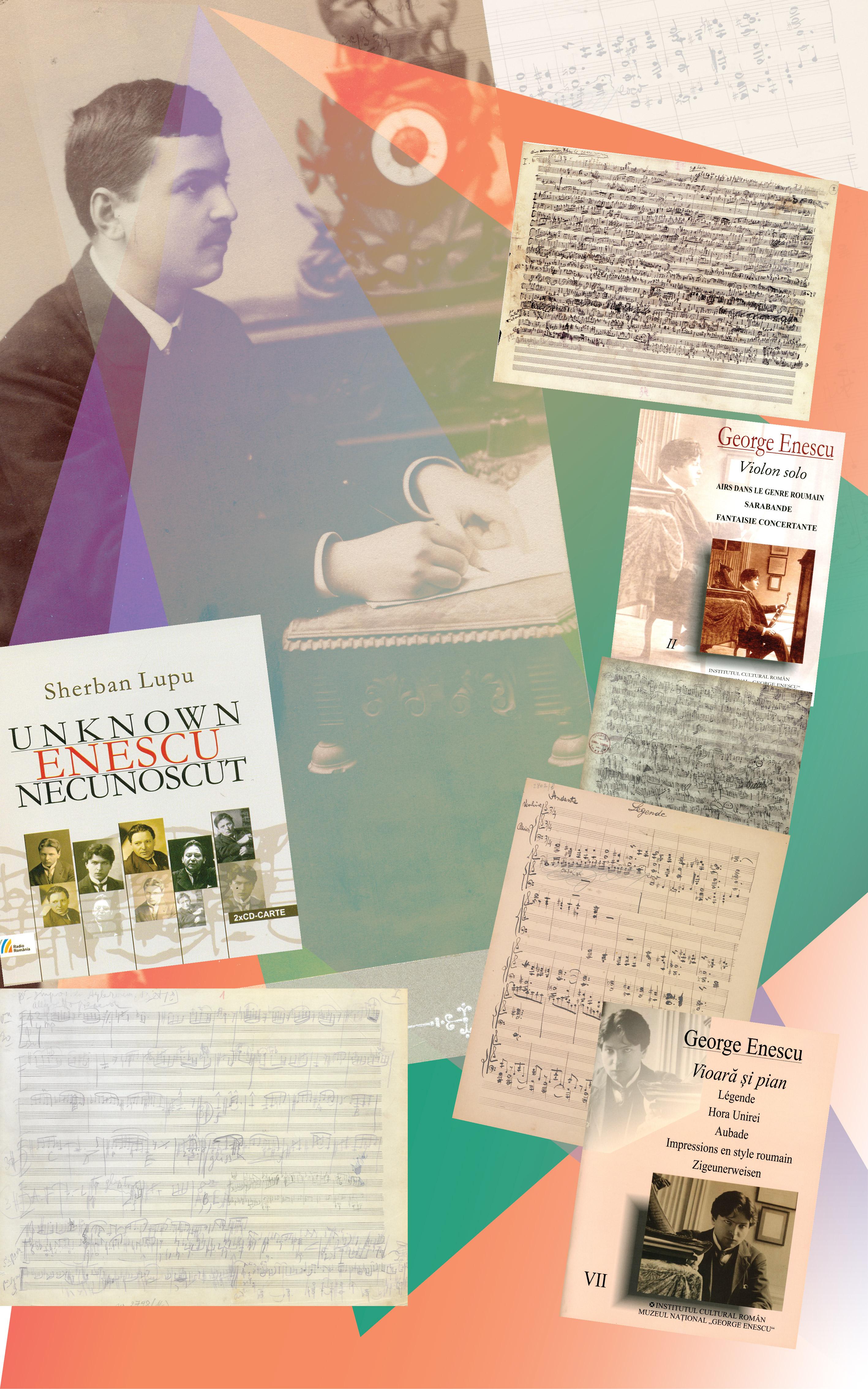 Reconstituiri: George  Enescu în viziunea lui Sherban Lupu. Lucrări pentru vioară solo și vioară pian: <em>Airs dans le genre roumain</em> (pentru vioară sau vioară și pian. 1926); <em>Sarabandă  pentru vioară solo </em>(1912-1915)<em>;</em> <em>Légende pentru vioară și  pian </em>(1890-1891)<em>;</em> <em>Impressions en style roumain pentru  vioară și pian</em> (1919-1920)