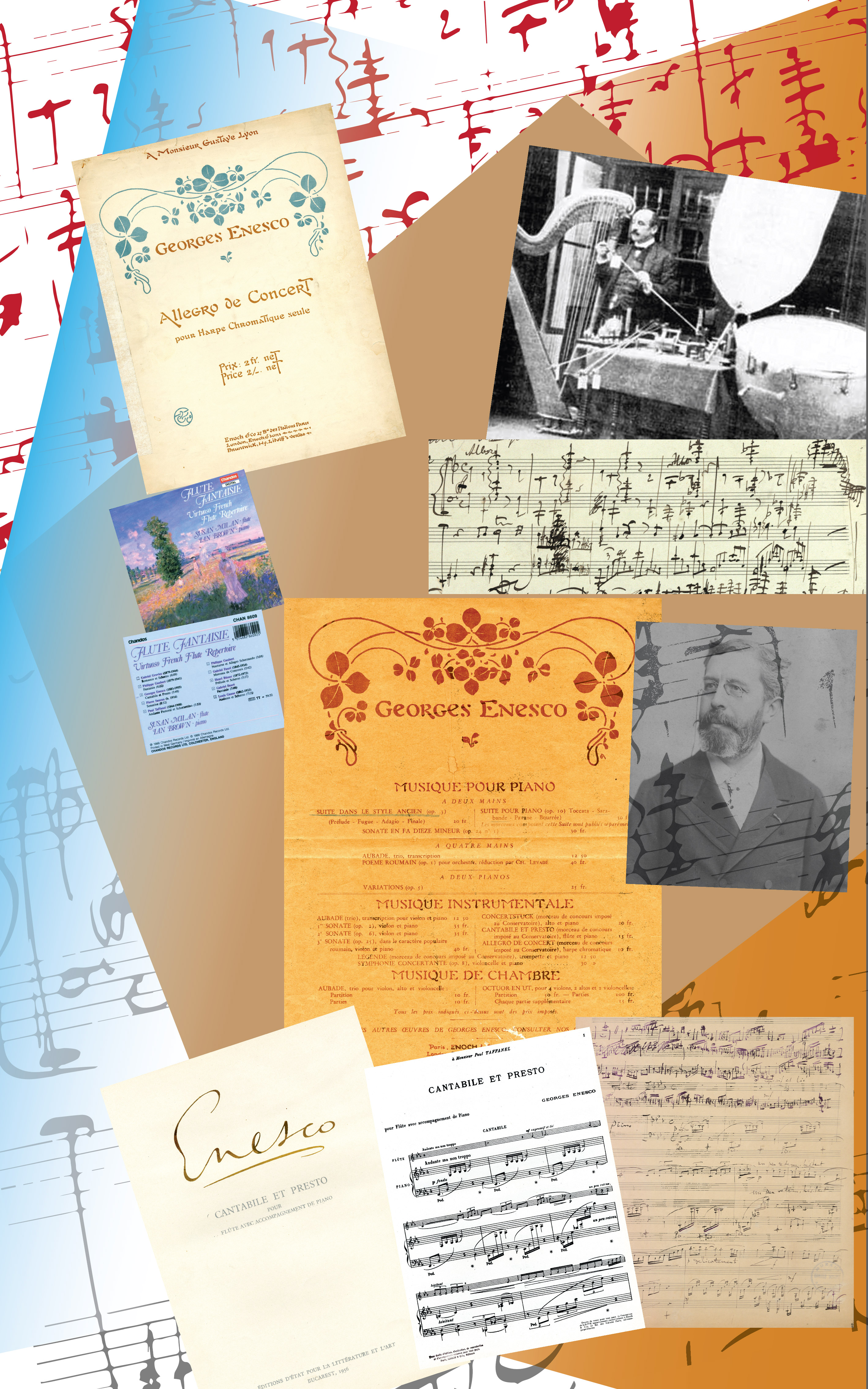 Creații didactice I –  Lucrări miniaturale pentru concursurile Conservatorului din Paris (1): <em>Allegro de concert pentru harpă cromatică solo </em>(1904)<em>; Cantabile și Presto pentru flaut și pian </em>(1904)