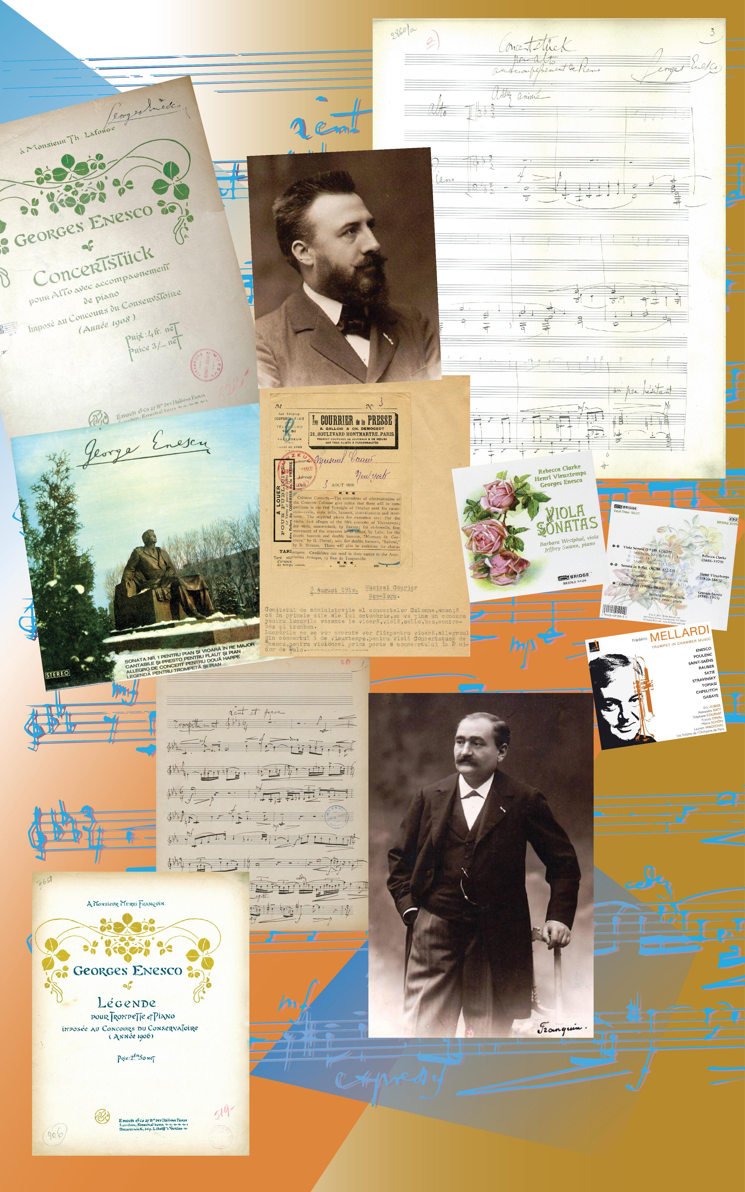 Creații didactice II –  Lucrări miniaturale pentru concursurile Conservatorului din Paris (2): <em>Concertstück  pentru violă și pian </em>(1906); <em>Legendă pentru trompetă și pian </em>(1906)