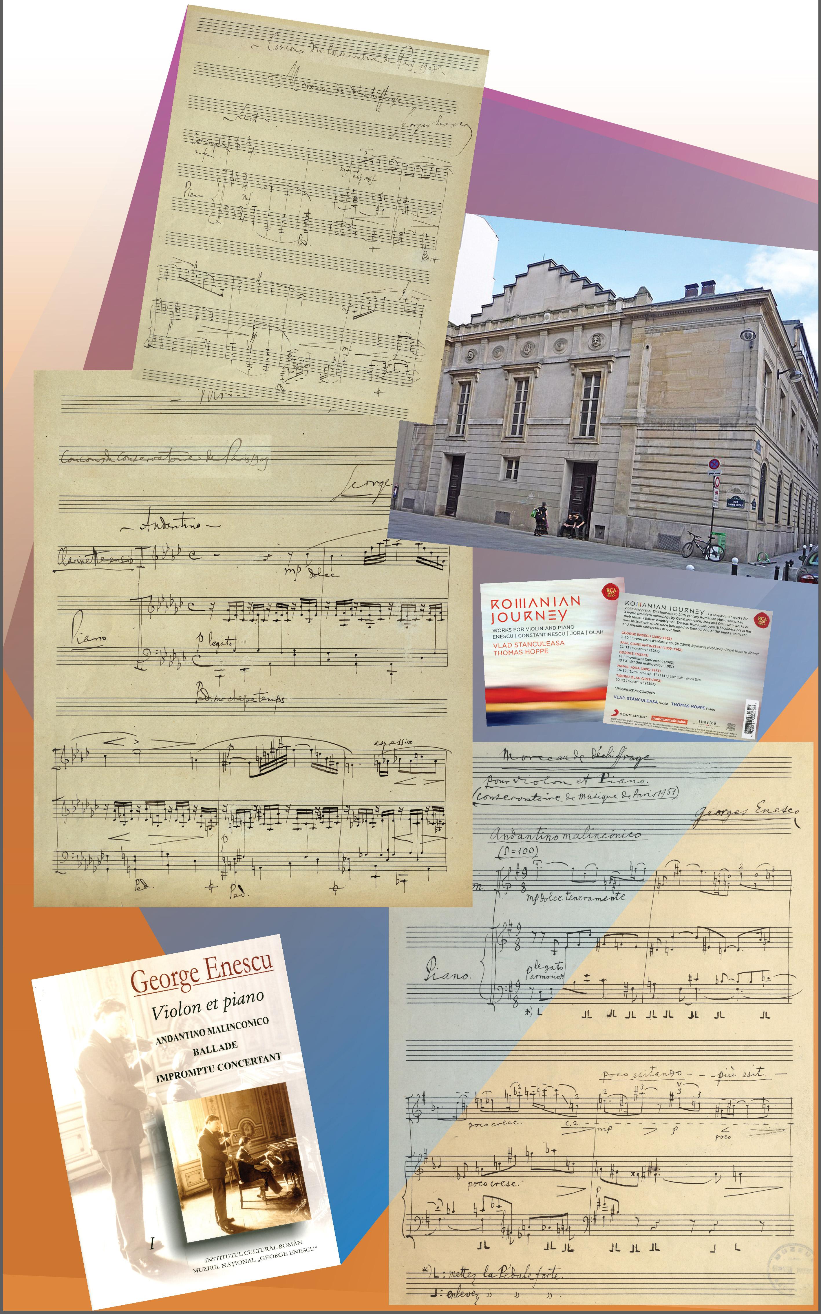 "Creații didactice III:  Trei piese de ""descifrare"" pentru concursurile Conservatorului din Paris: <em>Morceau  de déchiffrage pour cor simple en fa avec accompagnement de piano </em>(1908)<em>; Morceau de déchiffrage pour clarinette en si  b avec accompagnement de piano </em>(1909)<em>; Morceau de déchiffrage pour Violon et piano (Andantino  malinconico) </em>(1951)"