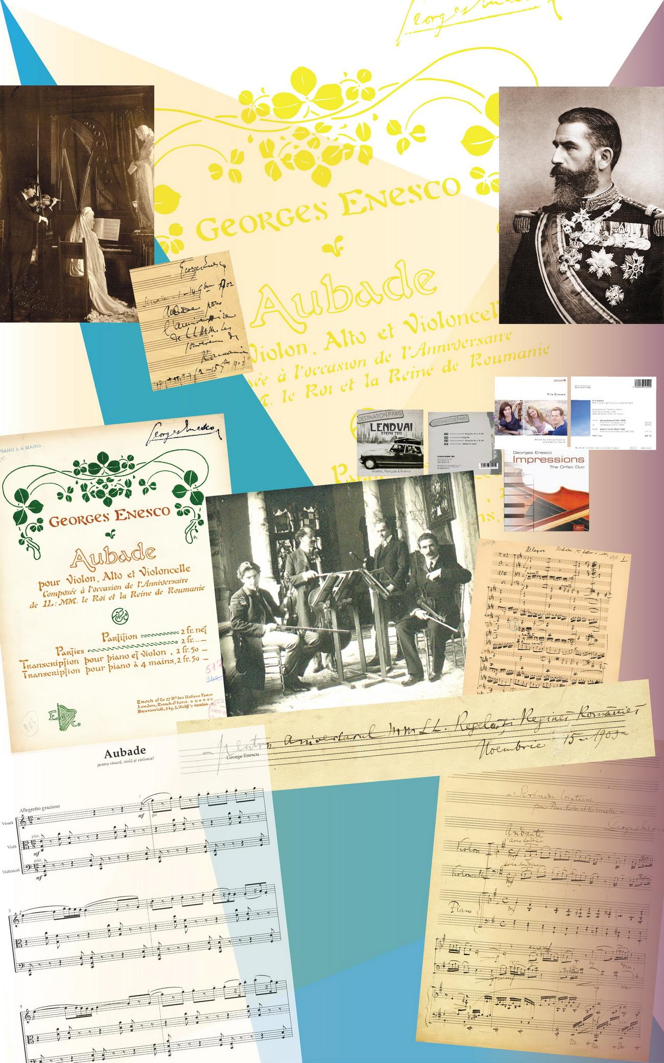 Lucrări dedicate Casei  Regale: <em>Aubade pentru cvartet de coarde </em>(1902); <em>Aubade pentru  vioară, violă și violoncel </em>(1899);<em> Sérénade lontaine pentru pian,  vioară și violoncel </em>(1903)