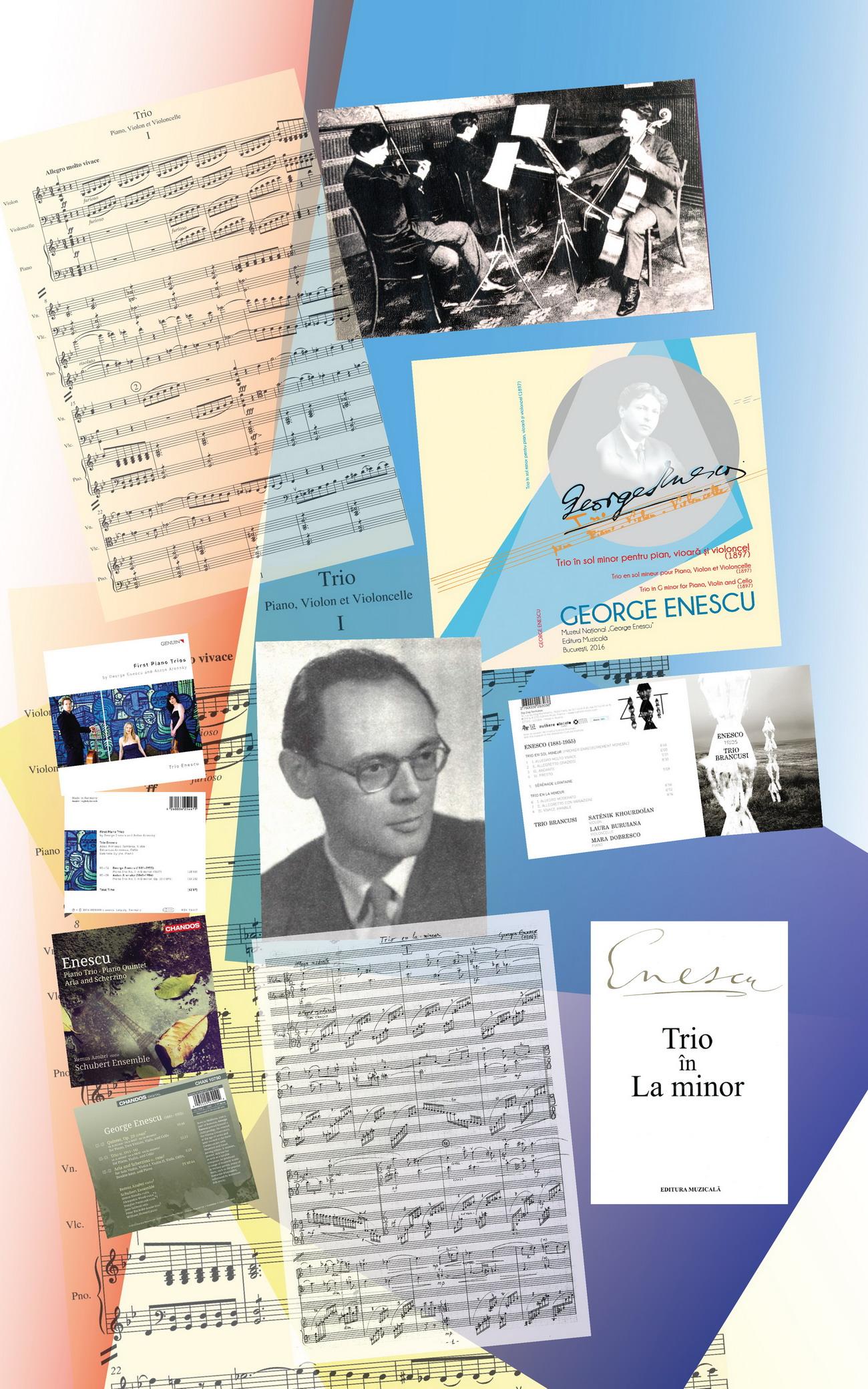 <em>Trio în sol minor pentru  pian, vioară și violoncel </em>(1897) și <em>Trio în la  minor pentru pian, vioară și violoncel</em> (1916)