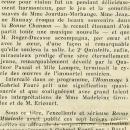 George Enescu - Pièce pour piano sur le nom de Fauré