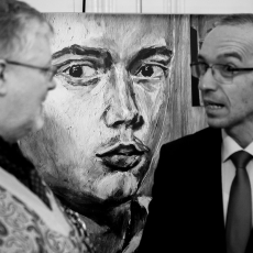 """Imagini de la vernisajul expozitiei In memoriam """"Pascal Bentoiu (1927-2016)"""" de la Londra -  7 mai 2017"""