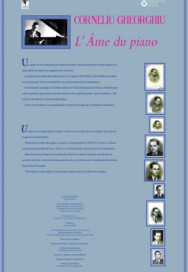 """Expoziția """"Corneliu Gheorghiu - sufletul pianului"""" la Bruxelles"""