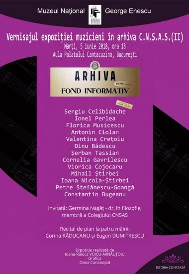 """Vernisajul expoziției """"Muzicieni în Arhiva CNSAS"""""""