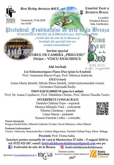 Al 9-lea recital - ultimul din stagiunea Preludiul Festivalului