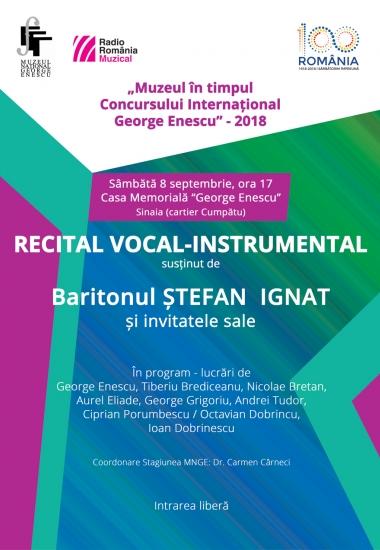 Recital susținut de baritonul Ștefan Ignat