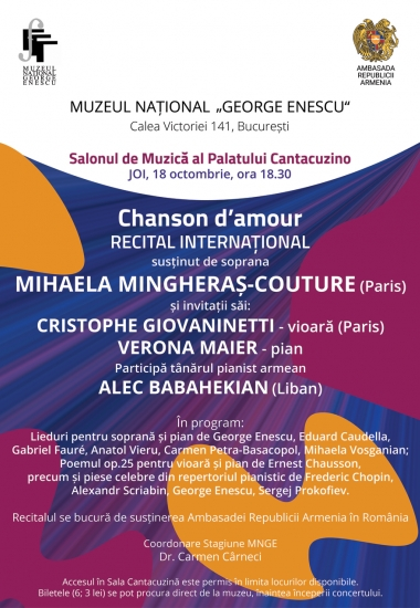 "Recital internațional ""Chansson d`amour"""