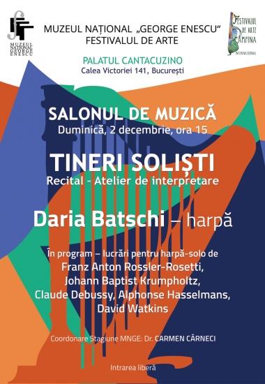 Recital Dana Batschi - harpă