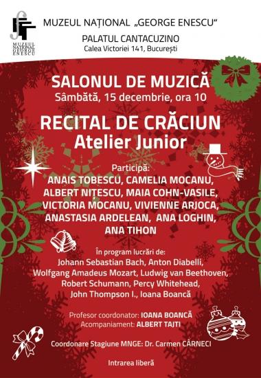 Recital de Crăciun - Atelier junior