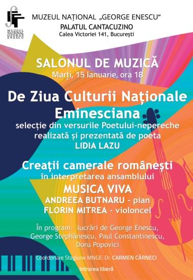 De Ziua Culturii Naționale - Eminesciana