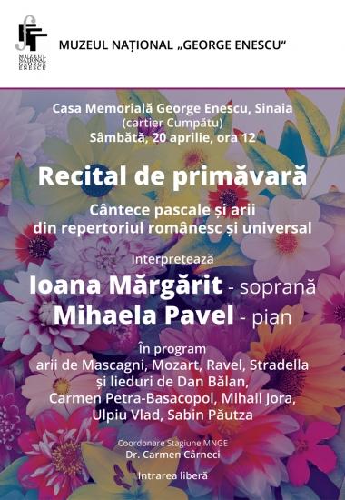 Cântece pascale și arii din repertoriul românesc și universal