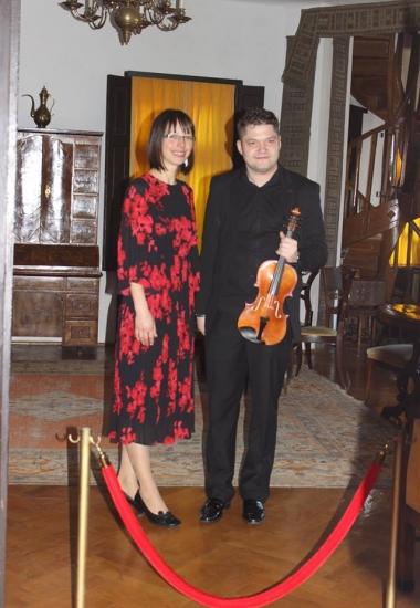 Imagini de la recitalul cameral susținut de Andrei Stanciu și Mihaela Pavel la Sinaia