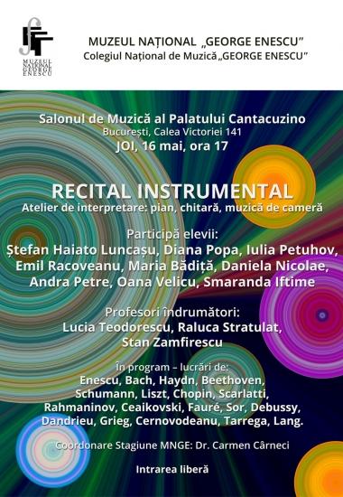 Atelier de interpretare: pian, chitară, muzică de cameră