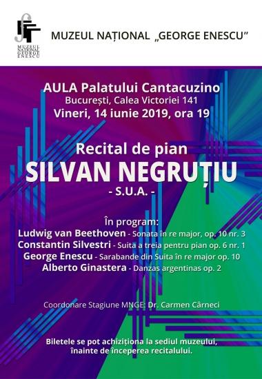 Recital de pian SILVAN NEGRUȚIU - S.U.A. -