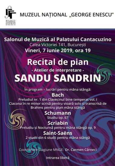 Recital de pian SANDU SANDRIN