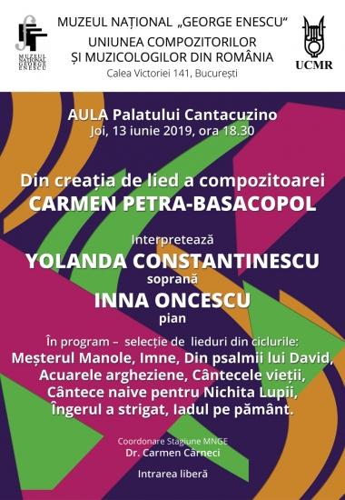 Din creația de lied a compozitoarei Carmen Petra-Basacopol