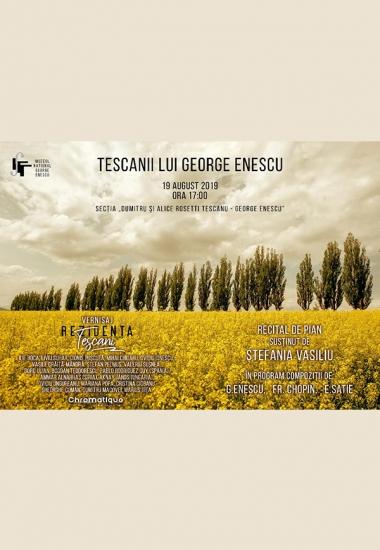 Vernisaj REZIDENȚA TESCANI 2019 și Recital de pian susținut de Ștefania Vasiliu