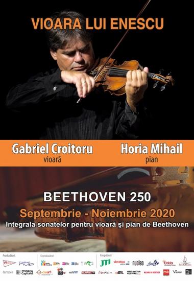 """Turneul naţional """"Vioara lui Enescu"""" cu Integrala sonatelor pentru vioară şi pian de Beethoven începe astăzi la Ploieşti"""