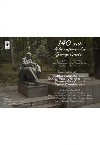 Recital cameral - 140 de ani de la nașterea lui George Enescu