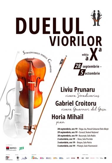 Duelul viorilor - Stradivarius versus Guarneri revine cu ediția a X-a (28 septembrie - 5 octombrie 2021)