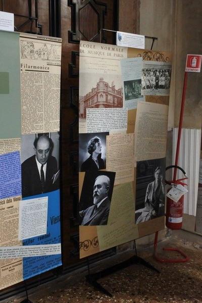 """Imagini de la  expoziţia """"LIPATTI 100"""" de la Conservatorul de Muzică """"Benedetto Marcello"""" din Veneția"""