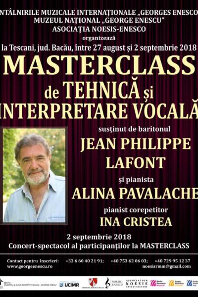 Masterclass de tehnică și interpretare vocală