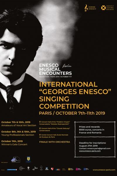 """Concursul internațional """"George Enescu"""" - Paris 2019"""