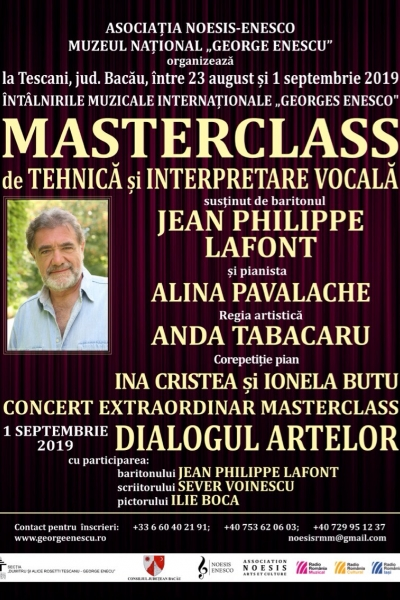 Masterclass de tehnică și interpretare vocală 2019