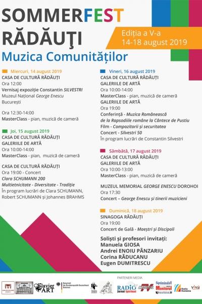SOMMERFEST RĂDĂUȚI – Muzica comunităților