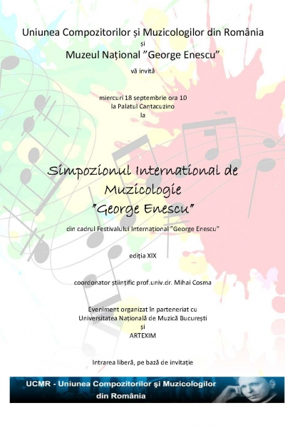 "Simpozionul International de Muzicologie ""George Enescu"""
