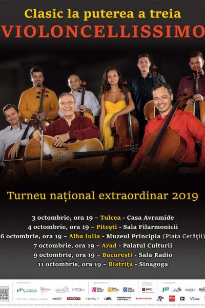 Turneul naţional extraordinar Violoncellissimo - Clasic la puterea a treia