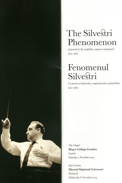 """Fenomenul Silvestri. Un portret al dirijorului, compozitorului și pianistului (1913-1969)"""""""