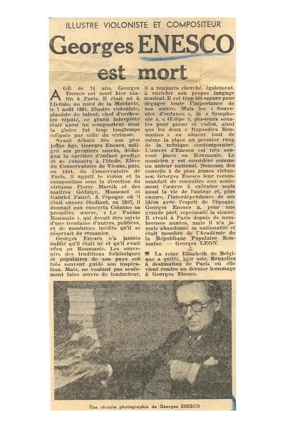 Georges Léon - portret George Enescu