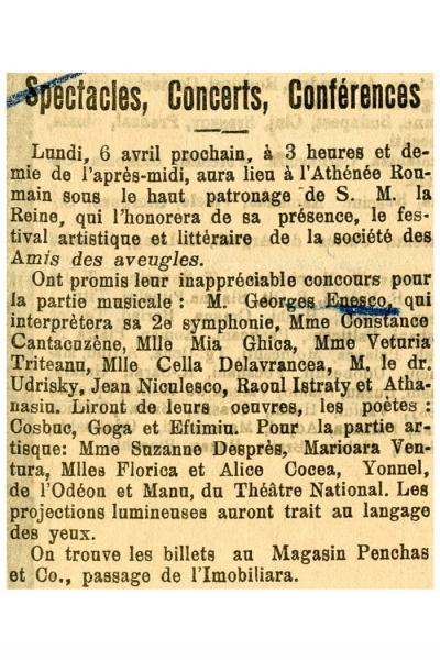 Actul al III-lea din Parsifal şi Lohengrin de Wagner  dirijate de Enescu în prima audiţie românească