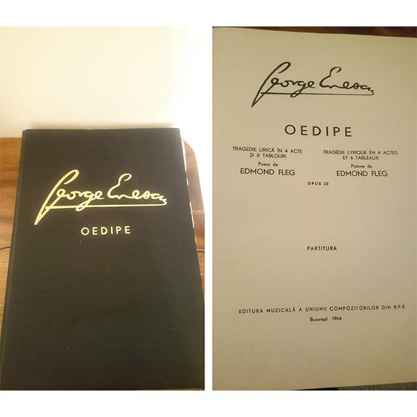 """Partitura operei """" OEDIPE"""" de George Enescu"""