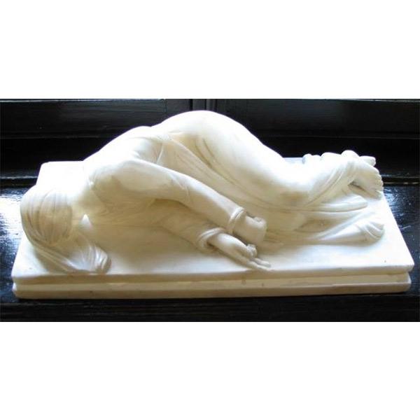 Statueta Sf. Cecilia în mormânt