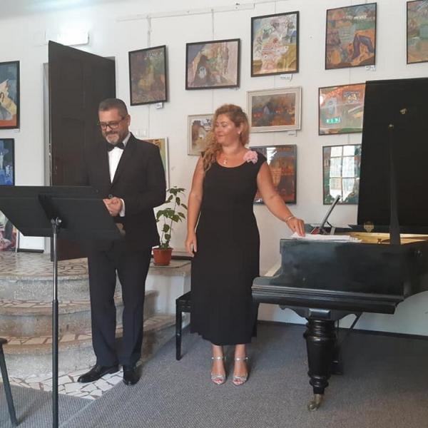 Imagini de la recitalul susținut de baritonul Ștefan Ignat la Sinaia din 8 septembrie 2018
