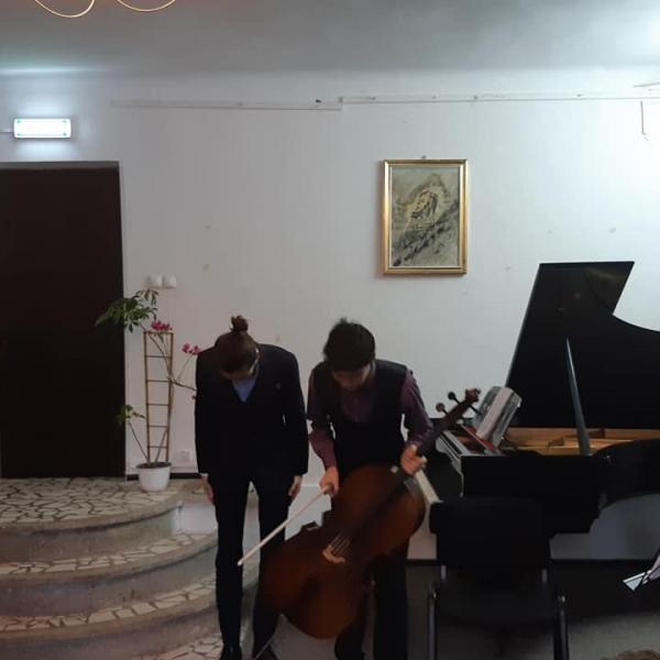 Imagini de la recitalul susținut de Valentin Simion și Robert Creimerman la Sinaia, 20 ianuarie 2019