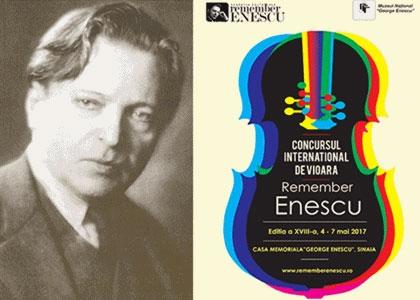 """Concursul Internaţional de Vioară """"Remember Enescu"""" - rezultate"""