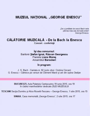 Ziua muzeului. De la Bach la Enescu. Concert-conferință
