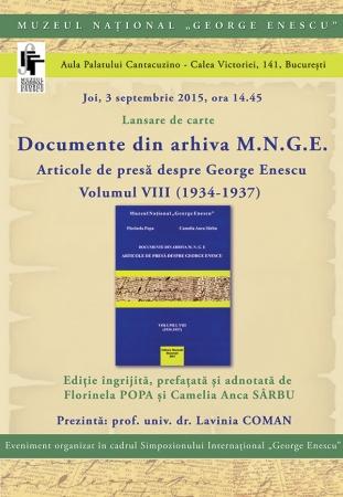 Lansare editorială: Documente din arhiva M.N.G.E.